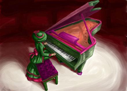 piano spielen auf dem pc